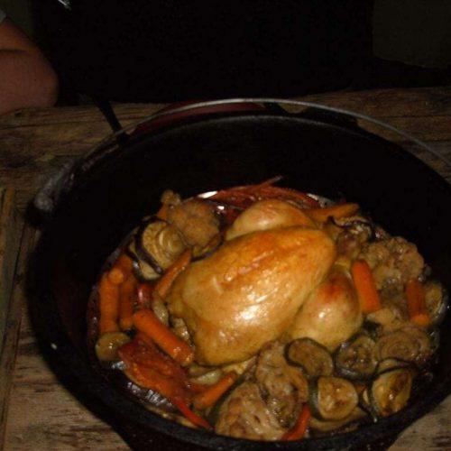 Zoetzure kip uit de Dutch Oven