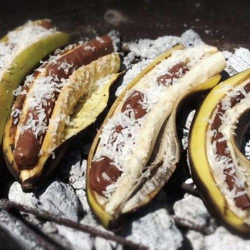 Gevulde banaan van het vuur