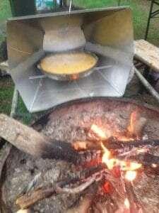 Boterkoek uit de reflector-oven